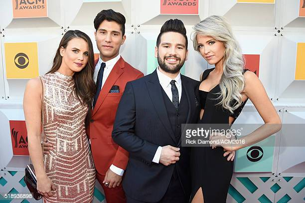 Abby Law recording artists Dan Smyers and Shay Mooney of music group Dan Shay and Miss Arkansas USA 2013 Hannah Billingsley attend the 51st Academy...