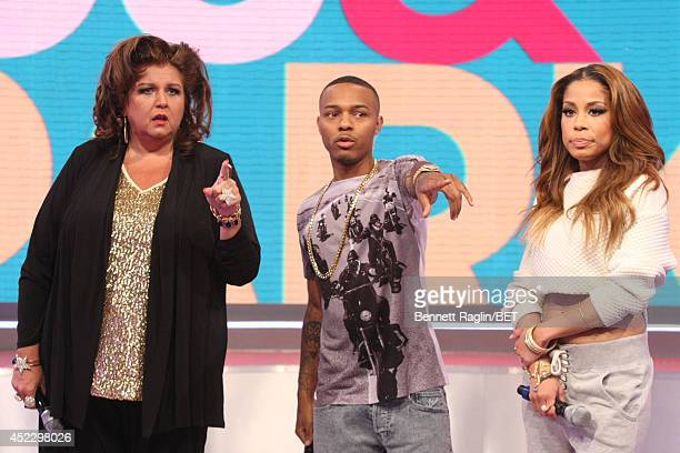 Abby Lee Miller Shad Moss and Keshia Chante attend 106 Park at BET studio on July 16 2014 in New York City