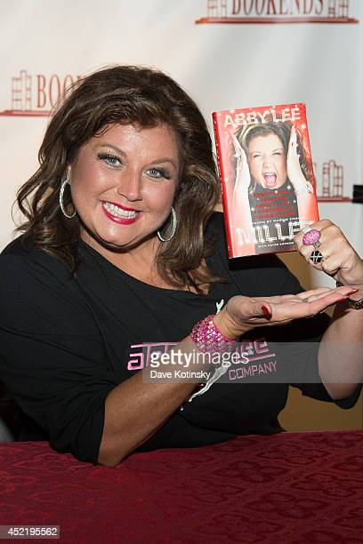 Abby Lee Miller signs copies of her book 'Everything I Learned About Life I Learned From Dance Class' at Bookends Bookstore on July 15 2014 in...