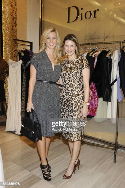Abby Manning and Lizzie Tisch attend Dior and Saks Fifth Avenue Cruise Collection Tea Benefiting CitymealsonWheels at Saks Fifth Avenue on October 27...