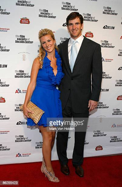 Abby McGrew and football player Eli Manning attend the 36th Film Society of Lincoln Center's Gala Tribute at Alice Tully Hall on April 27 2009 in New...