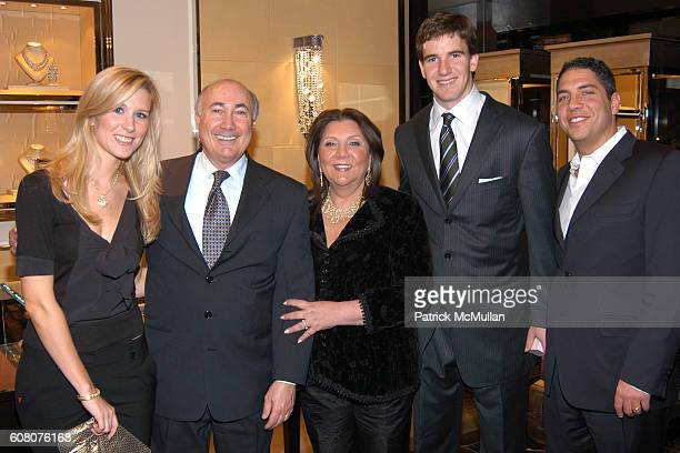 Abby McGrew, Ron Berk, Judith Ripka, Eli Manning and Brian Ripka attend Judith Ripka & Eli Manning Holiday Shopping Night at Judith Ripka on December...