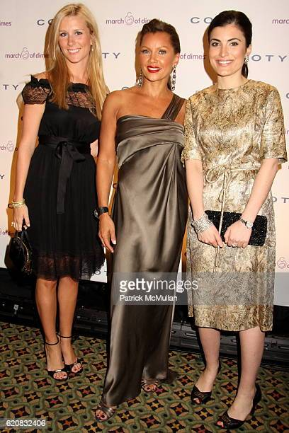 Abby McGrew, Vanessa Williams and Ashley Atiyeh attend March of Dimes 33rd Annual Beauty Ball at Cipriani 42nd Street on March 12, 2008 in New York...