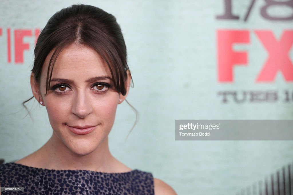 Abby Miller attends the FX's 'Justified' season 4 premiere held at Paramount Theater on the Paramount Studios lot on January 5, 2013 in Hollywood, California.