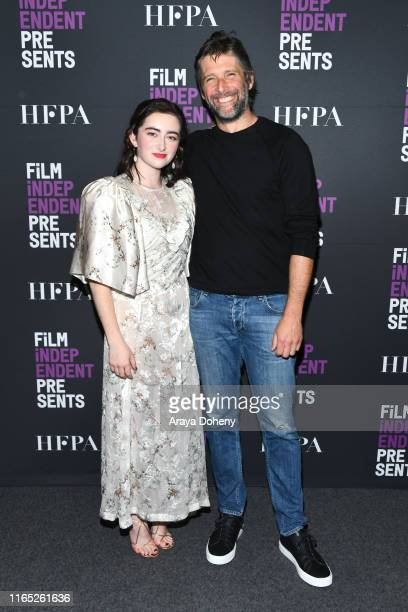"""Abby Quinn and Bart Freundlich at Film Independent presents """"After The Wedding"""" at The Landmark on July 30, 2019 in Los Angeles, California."""