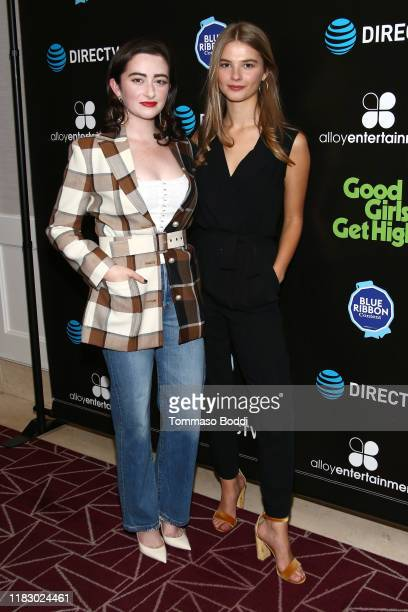 Abby Quinn and Stefanie Scott attend the DIRECTV Cinema Warner Bros Present Good Girls Get High at The London on October 23 2019 in West Hollywood...
