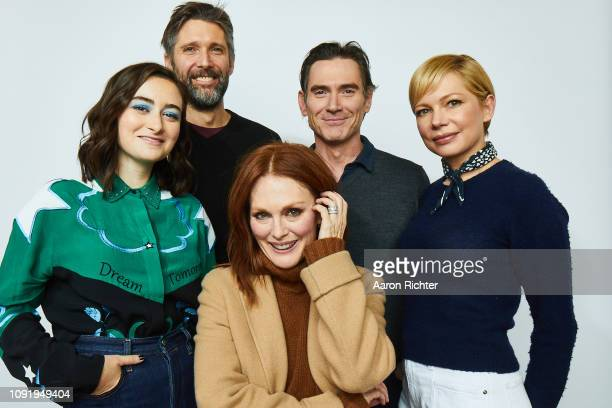 Abby Quinn Bart Freundlich Julianne Moore Billy Crudup and Michelle Williams from 'After The Wedding' pose for a portrait in the Pizza Hut Lounge in...