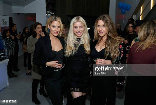 Abby Resnick Arielle Ray and Lauren Fleishman attend the Blu Perfer Blue Brut Launch Party for The 2018 8th annual Better World Awards on November 15...