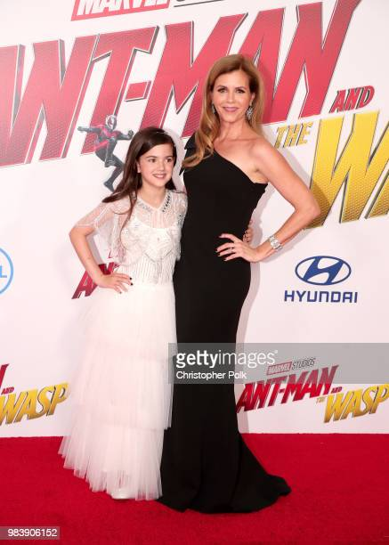 Abby Ryder Fortson and Christie Lynn Smith attend the premiere of Disney And Marvel's 'AntMan And The Wasp' on June 25 2018 in Los Angeles California
