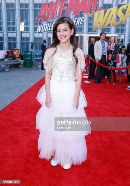 Abby Ryder Fortson attends the premiere of Disney And Marvel's 'AntMan And The Wasp' on June 25 2018 in Los Angeles California