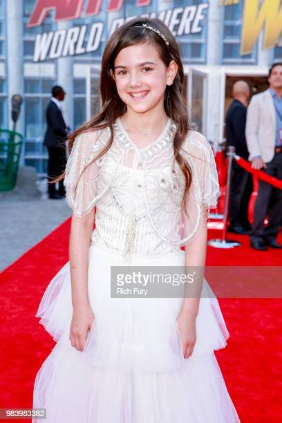 Abby Ryder Fortson attends the premiere of Disney And Marvel's 'AntMan And The Wasp' on June 25 2018 in Hollywood California