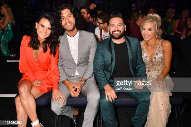Abby Smyers Dan Smyers Shay Mooney and Hannah Billingsley attend the 2019 CMT Music Awards at Bridgestone Arena on June 05 2019 in Nashville Tennessee