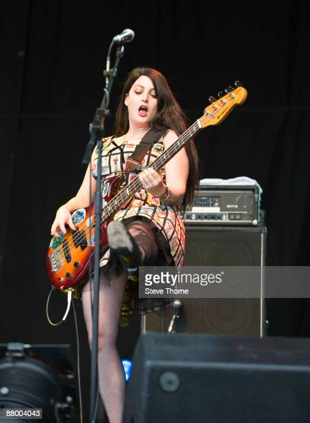 Abby Travis of The Bangles performing live at the Cornbury Music Festival Oxfordshire UK on July 05 2008