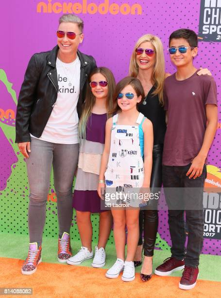 Abby Wambach and Glennon Doyle Melton attend the 2017 Nickelodeon Kids' Choice Sports Awards at Pauley Pavilion on July 13 2017 in Los Angeles...