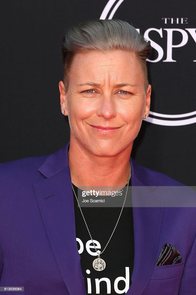 Abby Wambach arrives at the 2017 ESPYS at Microsoft Theater on July 12, 2017 in Los Angeles, California.
