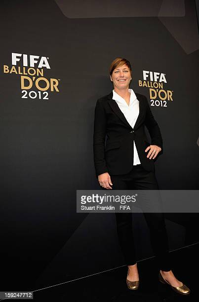 Abby Wambach of the USA poses for photographs on the red carpet during the FIFA Ballon d'Or Gala 2012 at the Kongresshaus on January 7 2013 in Zurich...