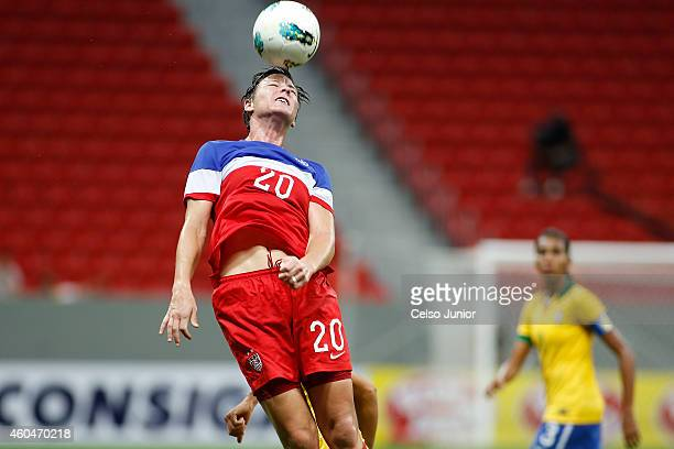 Abby Wambach of USA during the match between USA and Brazil in the International Tournament of Brasilia at Mane Garrincha Stadium on December 14 2014...