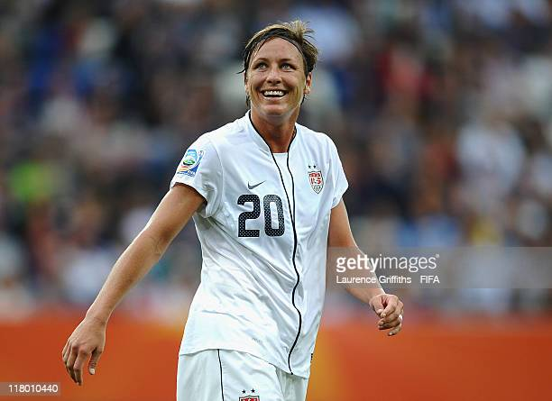 Abby Wambach of USA looks on during the FIFA Women's World Cup 2011 Group C match between USA and Columbia at the Rhein Neckar Arena on July 2 2011...