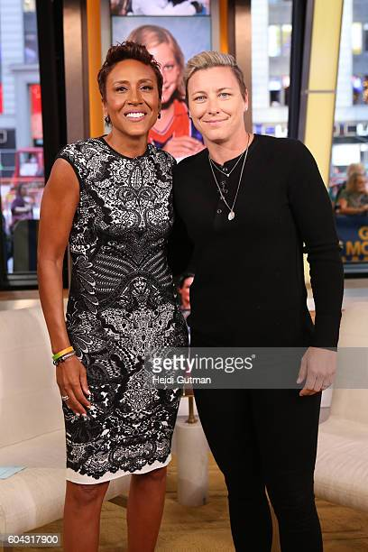 AMERICA Abby Wambach twotime Olympic gold medalist and FIFA Women's World Cup champion is a guest on 'Good Morning America' 9/13/16 airing on the ABC...