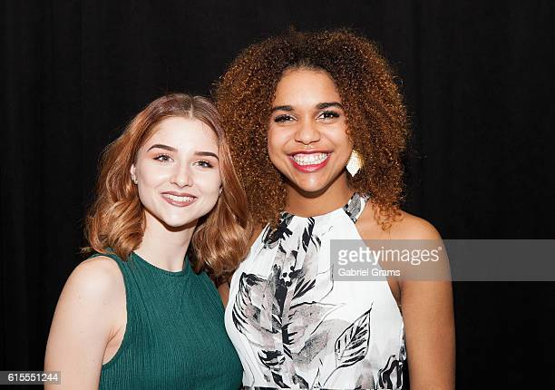 Abby Ward and Bella Cameron attend Kirk Cameron's Revive Us event at Harvest Cathedral on October 18 2016 in Chicago City