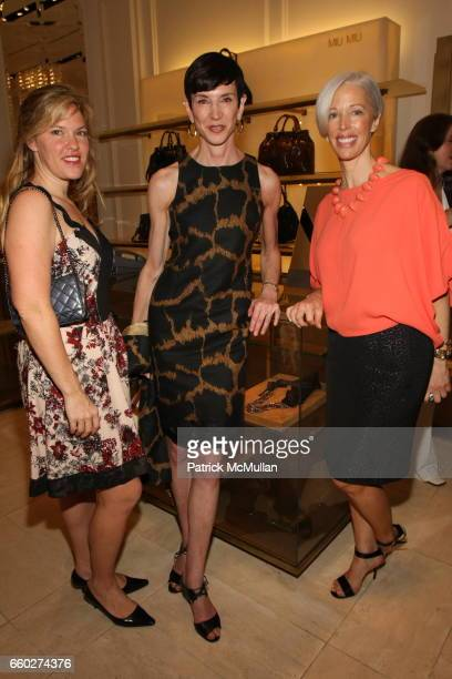 Abby Weisman Amy Fine Collins and Linda Fargo attend Modo for Jennifer Creel at Bergdorf Goodman on June 24 2009 in New York City