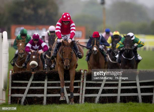Abbyssial ridden by Ruby Walsh wins The AES Champion Four Year Old Hurdle during day five of the Punchestown Festival at Punchestown Racecourse Co...