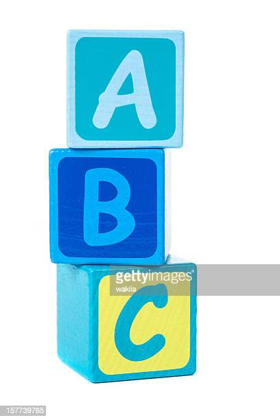 abc with building bricks