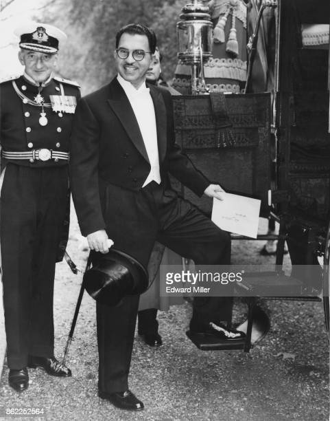Abd alRahman alBazzaz the new Iraqi ambassador to England boards a coach in London to present his credentials to the Queen 23rd October 1963 Behind...