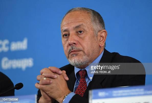 Abdalah Mokssit Secretary Of The IPCC Reacts During A Press News Photo