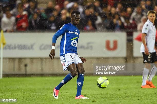 Abdalah Ndour Of RC Strasbourg During The Ligue 1 Match Between And OGC Nice At