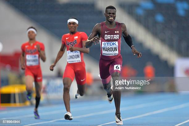 Abdalelah Haroun from Qatar competes in men's 400 metres during the IAAF World U20 Championships at the Zawisza Stadium on July 22 2016 in Bydgoszcz...