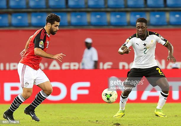 Abdalla El Said of Egypt in action during the African Cup of Nations 2017 Group D football match between Ghana and Egypt in PortGentil Gabon on...