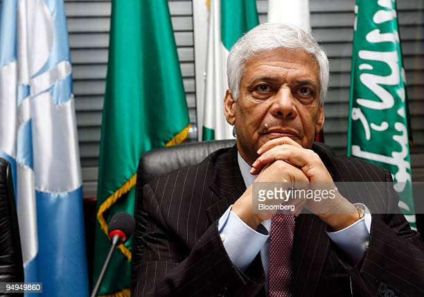 Abdalla ElBadri OPEC secretarygeneral arrives for an Organization of Petroleum Exporting Countries meeting in Vienna Austria on Sunday March 15 2009...