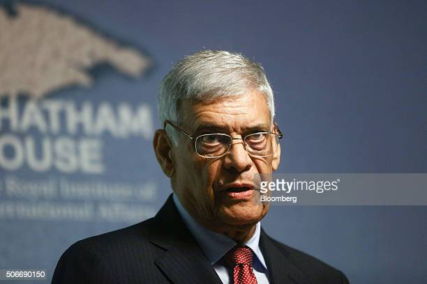 Abdalla ElBadri OPEC secretarygeneral speaks at the Middle East and North Africa Energy conference at Chatham House in London UK on Monday Jan 25...