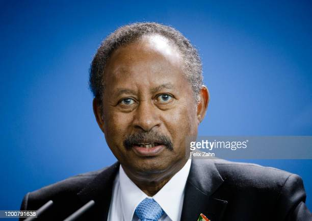 Abdalla Hamdok Prime Minister of Sudan at Bundeskanzleramt on February 14 2020 in Berlin Germany