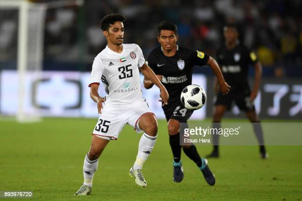 Abdalla Ramadan of Al Jazira in action during the FIFA Club World Cup UAE 2017 third place play off match between Al Jazira and CF Pachuca at the...