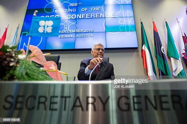 Abdalla Salem elBadri Secretary General of the Ordinary meeting of the Conference of the Organization of the Petroleum Exporting Countries OPEC...
