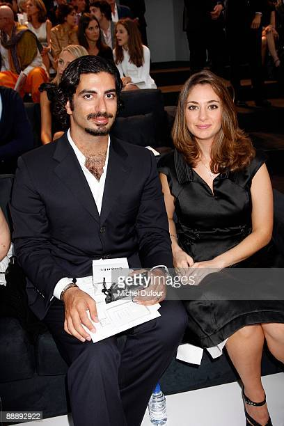 Abdallah Hariri and his wife attend the Chanel fashion show a part of the Paris high fashion Week A/W 2009/10 at Grand Palais on July 7 2009 in Paris...