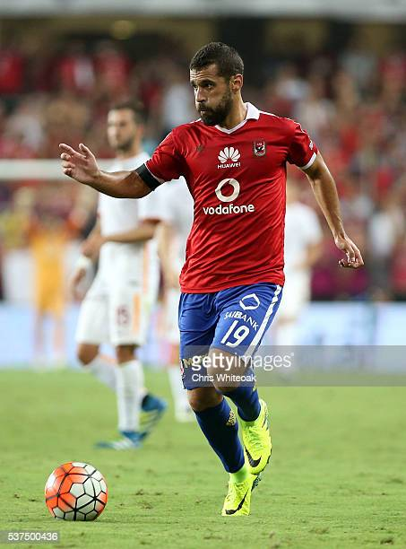 Abdallah Said of Al Ahly during the friendly match between Al Ahly and AS Roma on May 20 2016 in Al Ain United Arab Emirates
