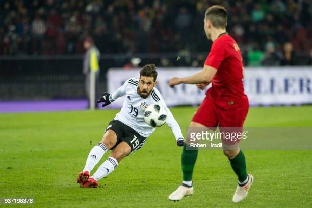 Abdallah Said of Egypt in action during the International Friendly between Portugal and Egypt at the Letzigrund Stadium on March 23 2018 in Zurich...