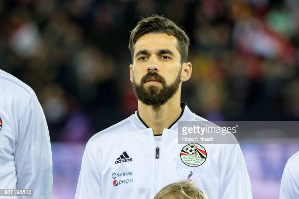Abdallah Said of Egypt looks on during the International Friendly between Portugal and Egypt at the Letzigrund Stadium on March 23 2018 in Zurich...