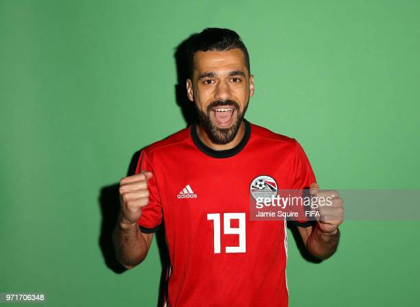 Abdallah Said of Egypt poses during the official FIFA World Cup 2018 portrait session at The Local hotel on June 11 2018 in Grozny Russia