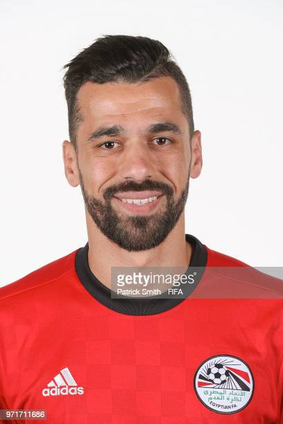 Abdallah Said of Egypt poses for a portrait during the official FIFA World Cup 2018 portrait session at The Local Hotel on June 11 2018 in Gronzy...