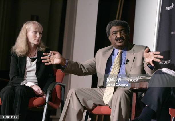 Abdalmahmood Abdalhaleem Mohamad Sudanese Ambassador to the UN speaks during the Reuters Newsmakers Panal Discussion on the state of Darfur held at...