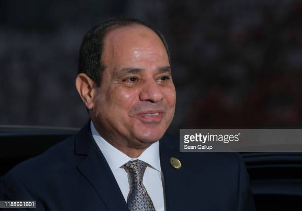 Abdel Fattah ElSisi President of Egypt arrives for the Compact with Africa summit at the Chancellery on November 19 2019 in Berlin Germany The summit...