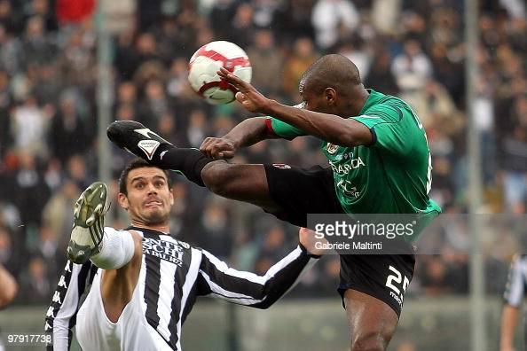 Abdel Kader Ghezzal Of AC Siena Battles For The Ball With Marcelo News Photo