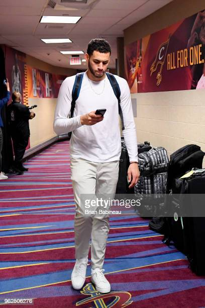 Abdel Nader of the Boston Celtics arrives to the arena prior to Game Six of the Eastern Conference Finals of the 2018 NBA Playoffs against the...