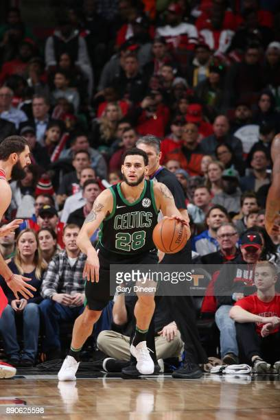 Abdel Nader of the Boston Celtics handles the ball against the Chicago Bulls on December 11 2017 at the United Center in Chicago Illinois NOTE TO...