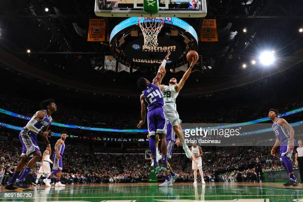 Abdel Nader of the Boston Celtics shoots the ball against the Sacramento Kings on November 1 2017 at the TD Garden in Boston Massachusetts NOTE TO...