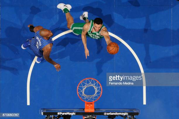 Abdel Nader of the Boston Celtics shoots the ball against the Orlando Magic on November 5 2017 at Amway Center in Orlando Florida NOTE TO USER User...